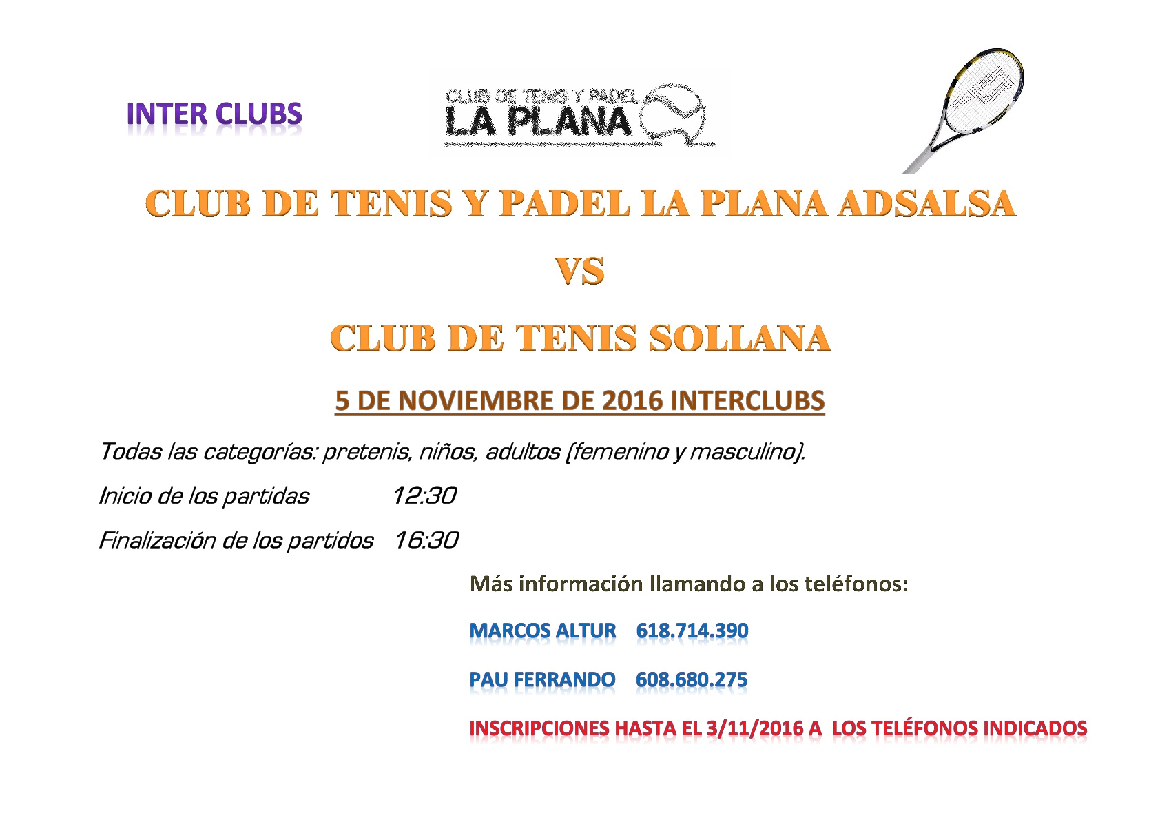 Interclub Sollana